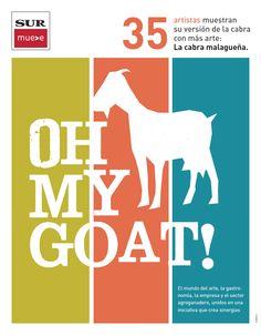 Book Oh My Goat! 40 Artistas muestras su versión de la cabra con más arte: la cabra malagueña.
