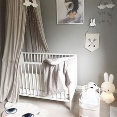 LOVE, LOVE, LOVE this space by @mams_og_mie. Such a gorgeous nursery featuring so many of our favourites. Hope you lovelies had a wonderful Saturday. On a quick note we are down to our last Mrs Mighetto prints from the latest collection including Miss Lola. Image and styling by @mams_og_mie. #roomlove #nurseryinspo #numero74 #mrsmighetto #camcam #smallstuff #miffy #luckyboysunday #scandistyle #interiors123 #growingfootprints