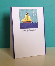 Beth's Little Card Blog: First Birthday card