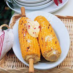 Maiskolben mit Chili-Honig-Butter Rezept   Küchengötter