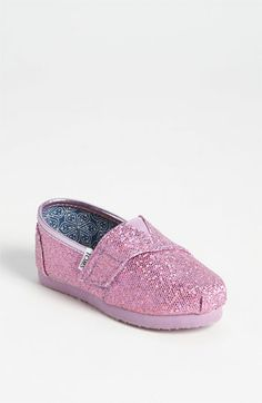 TOMS 'Classic Tiny - Glitter' Slip-On (Baby, Walker & Toddler) available at Nordstrom