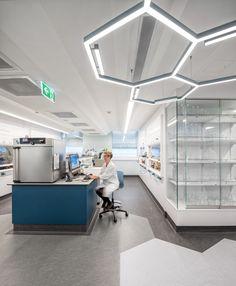 Hexagonal Light #architecture #design #lighting #interiordesign #laboratory