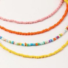 Bohemian Colorful Bead Pearl Beach Holiday Style Necklace Set