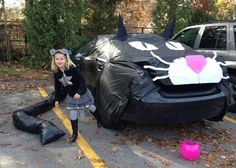 trunk or treat ideas cat mouse car costume halloween decoration trunkortreat - Halloween Car Decoration Ideas