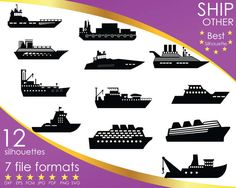 Hey, I found this really awesome Etsy listing at https://www.etsy.com/listing/516948149/12-silhouettes-ship-ships-vessel-boat