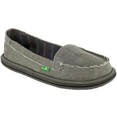 Sanuk!!  :) most comfy shoes ever!