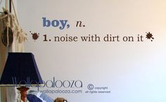 Boy noise with dirt on it wall decal  Boy door WallapaloozaDecals