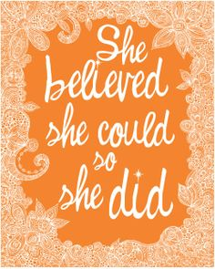 Feeling Inspired, Original and Inspirational Art by Valentina Ramos: She believed print