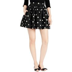 Pre-owned Kate Spade Deco Dot Cupcake Mini Skirt ($148) ❤ liked on Polyvore featuring skirts, mini skirts, kate spade, short mini skirts, mini skirt, polka dot mini skirt and dot skirt