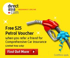 Refer a Friend and win a fee $25 petrol voucher http://www.directasia.com/