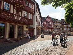 Once an important market town on the Main River in the Lower Franconia area of Bavaria, Germany, today Miltenberg is best known for its half-timbered houses