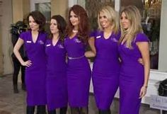 Amy Childs shows off sexy uniforms at opening of The Amy Childs beauty salon Salon Uniform, Spa Uniform, Uniform Ideas, Amy Childs, Work Uniforms, Beauty Lounge, Salon Design, Comfortable Fashion, Hairdresser