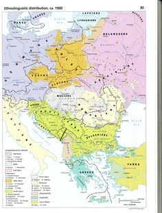 Ethnolinguistic distribution, ca. 1900 (from the Historical Atlas of East…