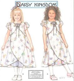 DAISY KINGDOM Dress Sewing Pattern - Girls Dresses Slip -