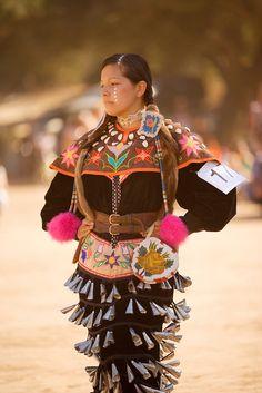 Female Jingle Dress Dancer, Chumash Inter-Tribal Powwow, Santa Ynez Valley near Santa Barbara, California