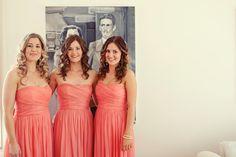 Coral Bridesmaids Dresses!