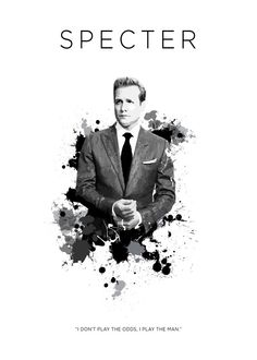 Harvey Specter - By KOO CONCEPT -  Collection: Certified Badass - Gallery quality print on thick 45cm / 32cm metal plate. Each Displate print verified by the Production Master. Signature, unique series number and hologram added to the back of each plate for added authenticity & collectors value. Magnetic mounting system included.