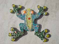 Mosaic frog wall plaque | Craft Juice - Handmade Social Network