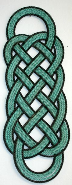 Rope Rug Nautical Decor Great Gift for Sailors Fisherman Rustic Decor Green Gray Mint Chocolate Chip. $55.00, via Etsy.