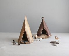vintage birch bark teepee