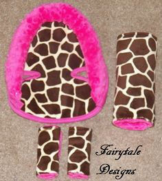 Infant Car Seat Giraffe Minky Accessories  by FairytaleDesign, $42.00