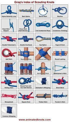 Grog's Index of Scouting Knots, click one and an animation shows you how it's tied....