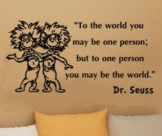 Dr Seuss thing 1 thing 2 to the world inspirational by kisvinyl, $16.99