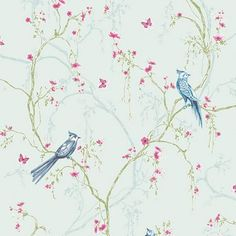 Superfresco Easy Songbird Duck Egg Wallpaper