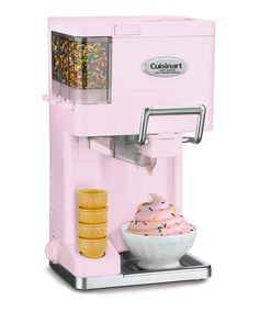 Pink Soft Serve Ice Cream Maker » I'm not gonna lie, there's a part of me that would very much love to own this... but then there is the healthy part of me that says no! ha ha. It's so cute though! Do you have one? Do you like it?