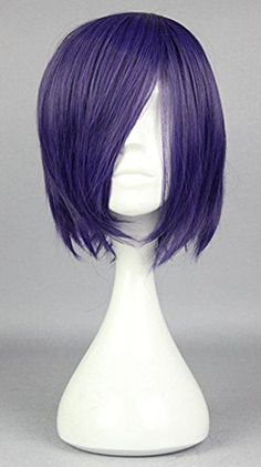 Tokyo Ghoul Tokyo Guru Toka Kirishima Touka Anime Short purple Cosplay wig +GIFT in Health & Beauty, Hair Care & Styling, Hair Extensions & Wigs Cheap Cosplay Wigs, Cosplay Costumes For Men, 2017 Cosplay, Tokyo Ghoul, Hair Wigs For Men, Diy Wig, Animal Halloween Costumes, Purple Halloween, Anime Wigs