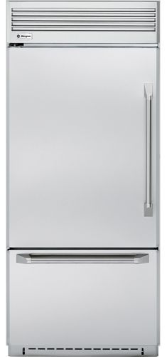 "ZICP360NXLH GE Monogram Energy Star Professional 36"" Built-In Bottom-Freezer Refrigerator - Left Hinge - Stainless Steel"
