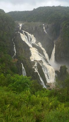The start of the wet season and the Barron Falls is in flood. Photo taken from the Kuranda Scenic Railway Barron Falls lookout and submitted by Matt Cole.