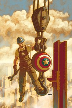 I Am Captain America by Dave Johnson (for Uncanny X-Men cover) *