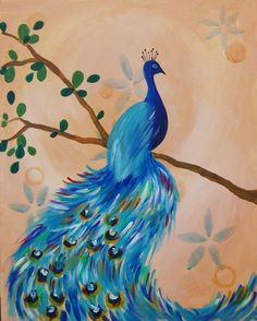 I am going to paint Vintage Peacock at Pinot's Palette - Sanderlin to discover my inner artist!