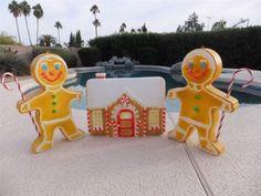 3 PC Set Gingerbread Man House Lighted Christmas Blow Mold Outdoor Yard Decor @ http://lightingworldbay.com #lighting