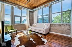 Feather Factory Lofts-2154 Dundas St W #407 | Authentic 750 sf 1 bedroom, 1 bath, post & beam loft featuring original exposed brick walls, high 11 ft factory wood ceiling & stainless steel counters! | More info here: torontolofts.ca/feather-factory-lofts-lofts-for-sale/2154-dundas-st-w-407-1 Stainless Steel Counters, Exposed Brick Walls, Post And Beam, Wood Ceilings, Lofts, Feather, Windows, Bath, The Originals