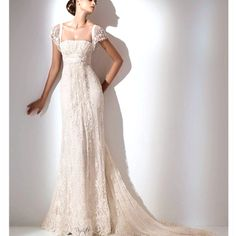 Did not realize I would love a dress like this, but I do! Pretty wedding dress!