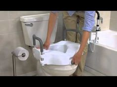 Drive Medical ELEVATED RAISED TOILET SEAT WITH REMOVABLE PADDED ARMS  Mo...