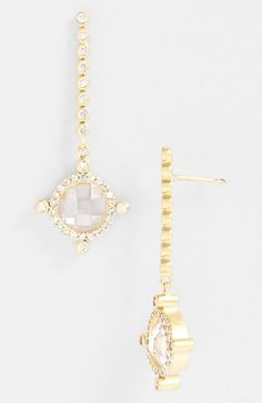 Freida Rothman 'Carnegie' Linear Compass Earrings (Online Only) available at #Nordstrom