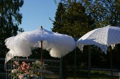 The lacy & petticoat parasols I created for Petite Retreat in 2010