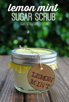 Lemon Mint sugar scrub #BabyCenterBlog #MothersDay