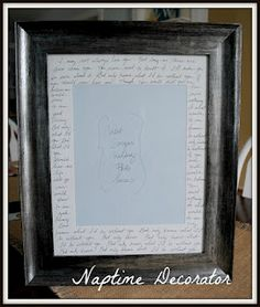 First dance lyrics - great wedding gift or anniversary gift!