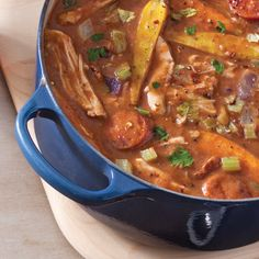 Rabbit, Andouille, and Root Vegetable Etouffee