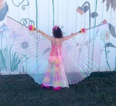 Pink Dance WINGS - Iridescent shimmer PINK - flow dance gogo costume funky fun cute kawaii Butterfly Dragonfly pretty Gifts for Her on Etsy, $49.50