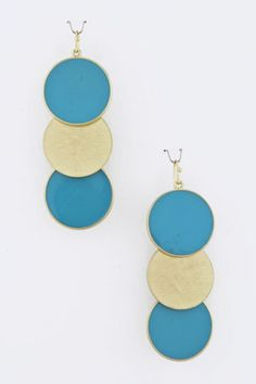 NEW Triple Dot Drop Earrings - Various Colors www.TheConsignmentBag.com