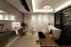 Suíte Master - CASA COR 2013 - (Fotos Lio Simas): Banheiros Eclético por ArchDesign STUDIO