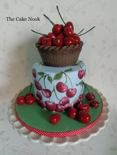 Gorgeous Cakes, Pretty Cakes, Amazing Cakes, Make Your Own Wedding Cakes, Chefs, Chocolates, Hand Painted Cakes, Cherry Cake, Cupcakes