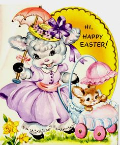 https://flic.kr/p/bf65Ji   Easter lamb card   Isn't this sweet? Great for all your Easter projects, so feel free to borrow the image!