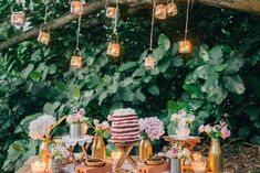 Dreamy and Rustic Wedding Picnic Inspiration - votives