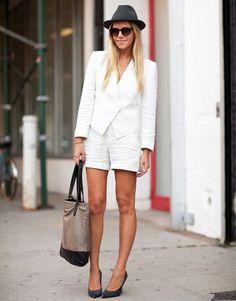 white short suit
